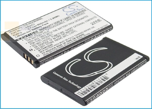 Аккумулятор CS-HUG620SL для T-Mobile Groove 3,7V 800Ah Li-ion