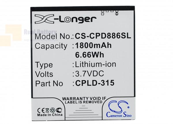 Аккумулятор CS-CPD886SL для Vodafone 889N 3,7V 1800Ah Li-ion
