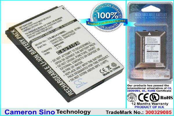 Аккумулятор CS-MOA3100SL для Motorola CLP1010 3,7V 880Ah Li-ion