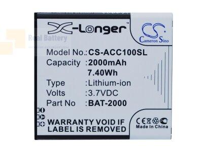 Аккумулятор CS-ACC100SL для Acer Liquid C1 3,7V 2000Ah Li-ion