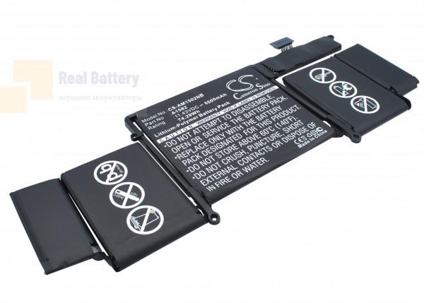 "Аккумулятор CS-AM1502NB для Apple Macbook Pro 13"" 2015 Retina  11,43V 6500mAh Li-Polymer"