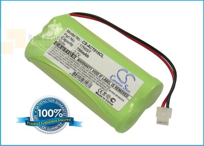 Аккумулятор CS-ACT015CL для Geemarc CC40 2,4V 750Ah Ni-MH