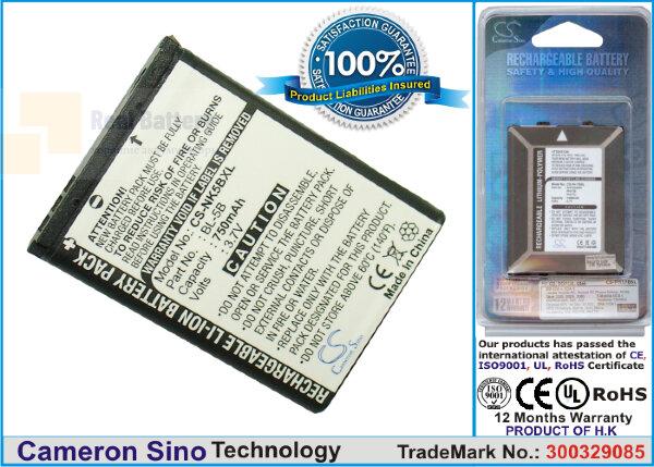 Аккумулятор CS-NK5BXL для Topblue V2.0 bluetooth 3,7V 750Ah Li-ion