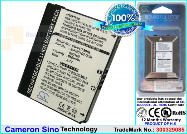 Аккумулятор CS-DC750SL для Vodafone 920 3,7V 950Ah Li-ion