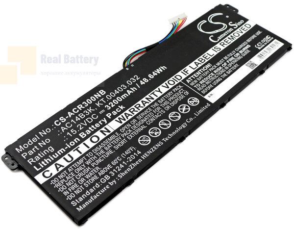 Аккумулятор CS-ACR300NB для Acer Aspire ES15  15,2V 3200mAh Li-ion