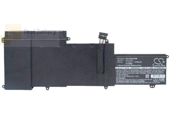 Аккумулятор CS-AUX510NB для Asus U500VZ  14,8V 4750mAh Li-Polymer