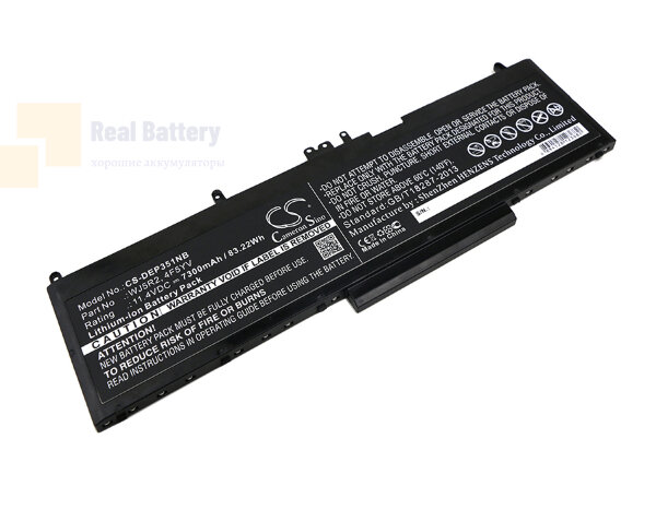 Аккумулятор CS-DEP351NB для DELL Precision 3510  11,4V 7300mAh Li-ion