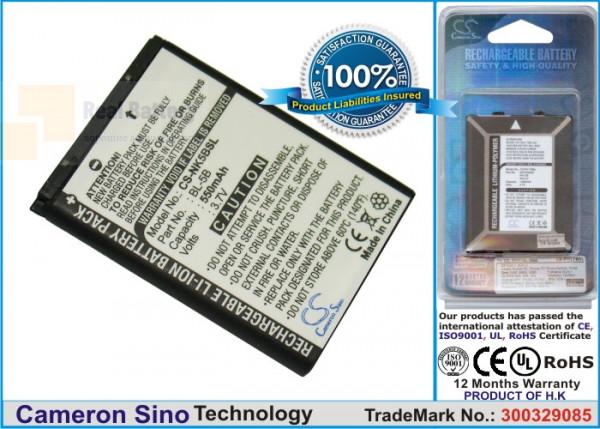 Аккумулятор CS-NK5BSL для VIVITAR BLI-885 3,7V 550Ah Li-ion