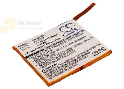 Аккумулятор CS-A600SL для Asus Mypal A600 3,7V 1700Ah Li-Polymer