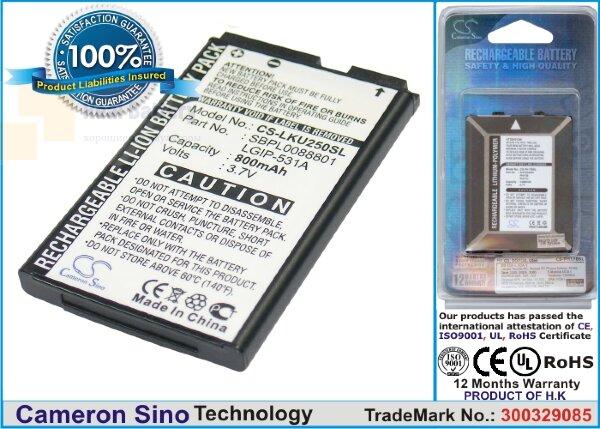 Аккумулятор CS-LKU250SL для T-Mobile A170 3,7V 800Ah Li-ion