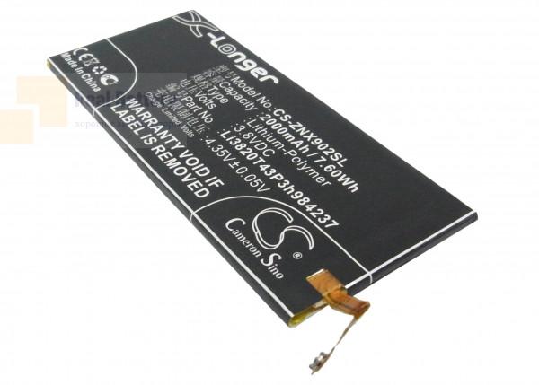 Аккумулятор CS-ZNX902SL для ZTE Nubia Z5 Mini 3,8V 2000Ah Li-Polymer