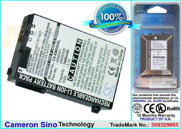 Аккумулятор CS-EM500SL для TORQ N100 3,7V 1440Ah Li-ion