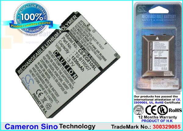 Аккумулятор CS-EG810SL для Toshiba Portege G810 3,7V 1530Ah Li-Polymer