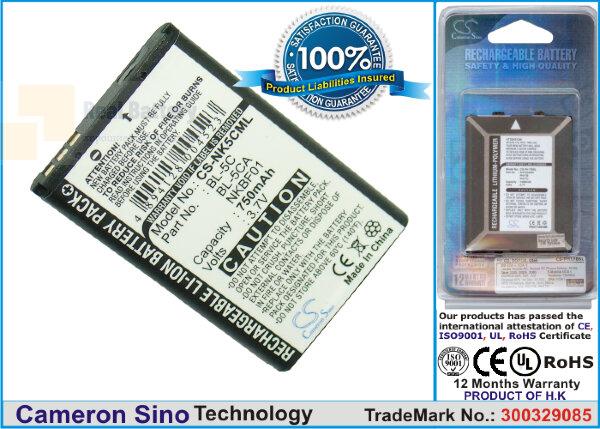 Аккумулятор CS-NK5CML для Tecno HD61 Album 3,7V 750Ah Li-ion