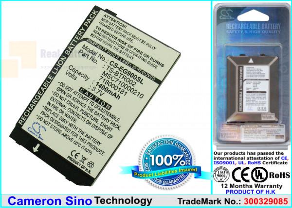 Аккумулятор CS-EG900SL для Toshiba Portege G900 3,7V 1350Ah Li-ion