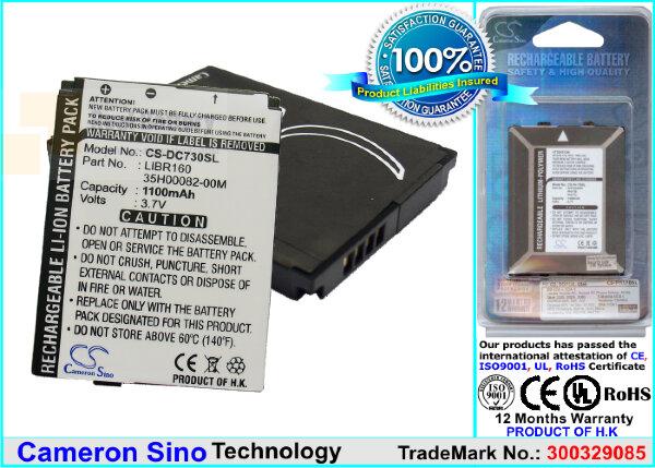 Аккумулятор CS-DC730SL для Vodafone V 3,7V 1100Ah Li-ion