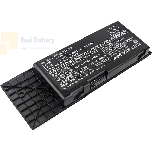 Аккумулятор CS-DER173NB для DELL Alienware M17x R3  10,8V 6600mAh Li-ion