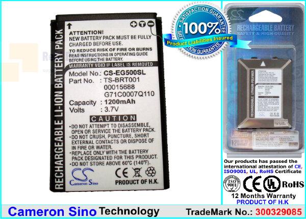 Аккумулятор CS-EG500SL для Toshiba Portege G500 3,7V 1200Ah Li-ion