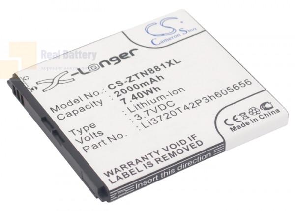 Аккумулятор CS-ZTN881XL для ZTE Blade G2 3,7V 2000Ah Li-ion