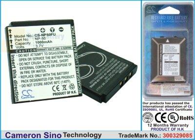 Аккумулятор CS-NP50FU для Lectrosonics SSM Micro Transmitter 3,7V 800Ah Li-ion