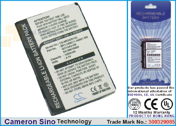 Аккумулятор CS-MIOA201SL для Yakumo Delta X GPS 3,7V 1250Ah Li-ion