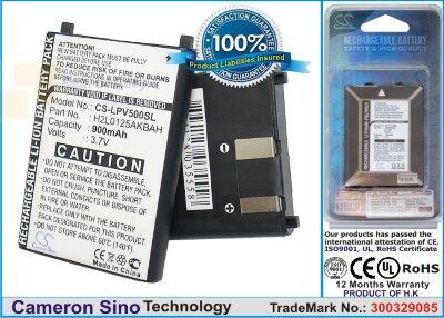 Аккумулятор CS-LPV500SL для Lawmate PV-500 DVR Recorder 3,7V 900Ah Li-ion
