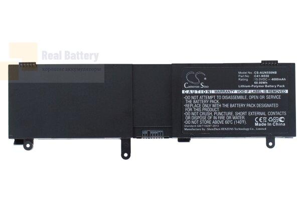 Аккумулятор CS-AUN550NB для Asus N550  15V 4000mAh Li-Polymer