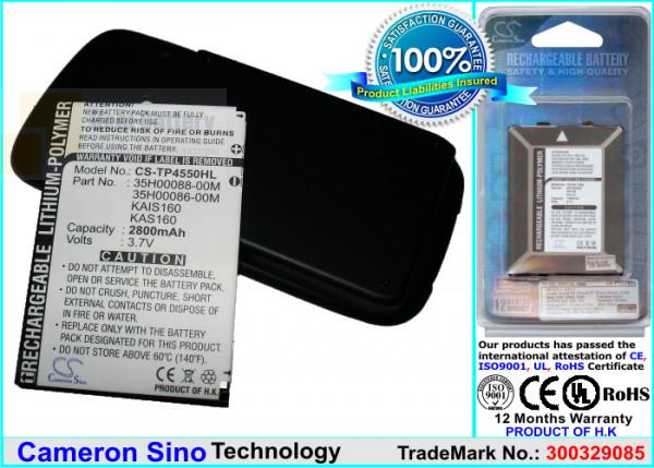 Аккумулятор CS-TP4550HL для T-Mobile MDA Vario III 3,7V 2800Ah Li-Polymer