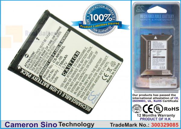 Аккумулятор CS-NK5BXL для Yashica  3,7V 750Ah Li-ion