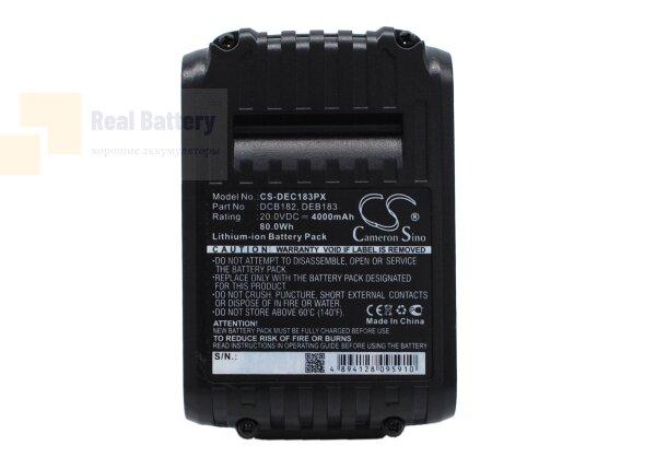 Аккумулятор для Dewalt DCD740 20V 4Ah Li-ion CS-DEC183PX