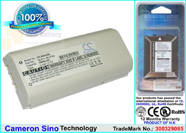 Аккумулятор CS-NKN4SL для Nokia THR850 3,7V 2000Ah Li-ion