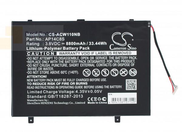 Аккумулятор CS-ACW110NB для Acer Aspire Switch 11  3,8V 8800mAh Li-Polymer