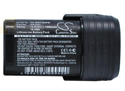 Аккумулятор для Worx WU288 12V 1,5Ah Li-ion CS-WRX125PW