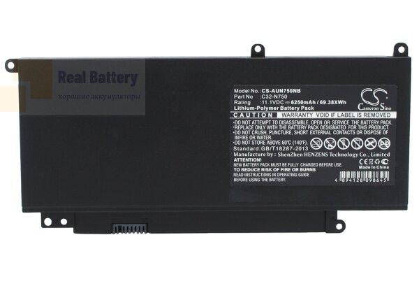 Аккумулятор CS-AUN750NB для Asus N750  11,1V 6250mAh Li-Polymer