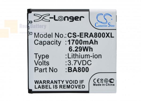 Аккумулятор CS-ERA800XL для Sony Ericsson Arc HD 3,7V 1700Ah Li-ion