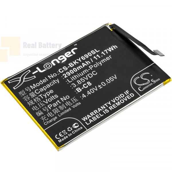 Аккумулятор CS-BKY690SL для VIVO 1714 3,85V 2900Ah Li-Polymer