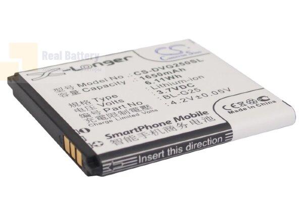 Аккумулятор CS-DVG250SL для Yusun i2 3,7V 1650Ah Li-ion