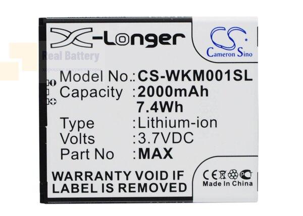 Аккумулятор CS-WKM001SL для Wiko Rainbow 4G 3,7V 2000Ah Li-ion