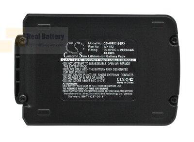 Аккумулятор для Worx WA3528 20V 2Ah Li-ion CS-WRX166PX
