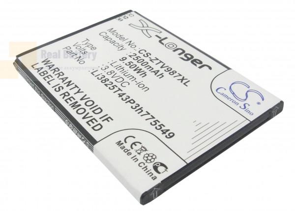 Аккумулятор CS-ZTV987XL для ZTE Grand X Quad 3,8V 2500Ah Li-ion