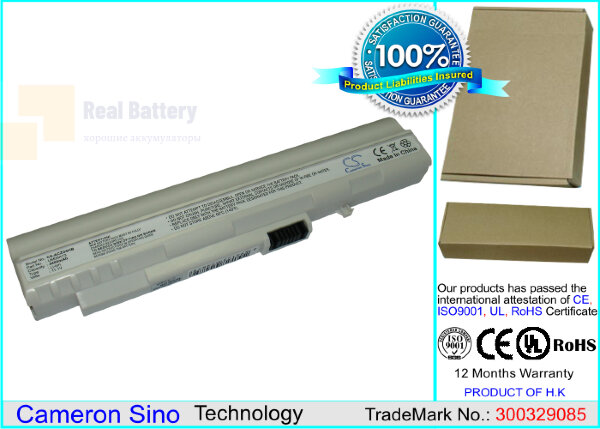 Аккумулятор CS-ACZG5HB для Acer Aspire One 531H 11,1V 4400mAh Li-ion