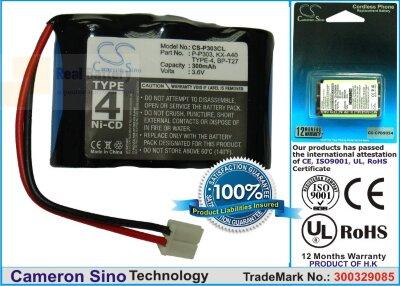 Аккумулятор CS-P303CL для Zenith 306 3,6V 600Ah Ni-MH