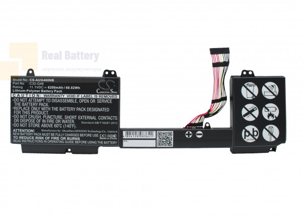 Аккумулятор CS-AUG460NB для Asus G46  11,1V 6200mAh Li-Polymer