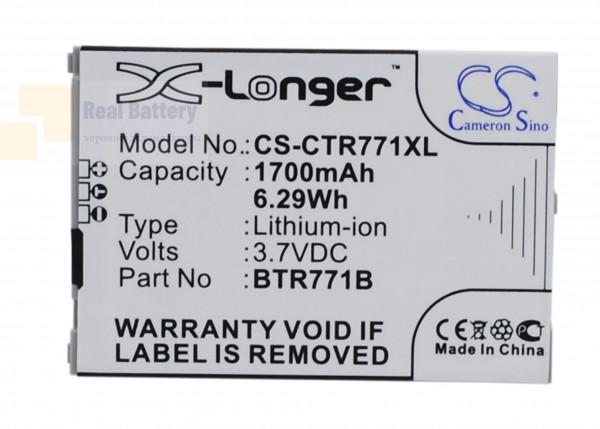 Аккумулятор CS-CTR771XL для Verizon Commando C771 3,7V 1700Ah Li-ion