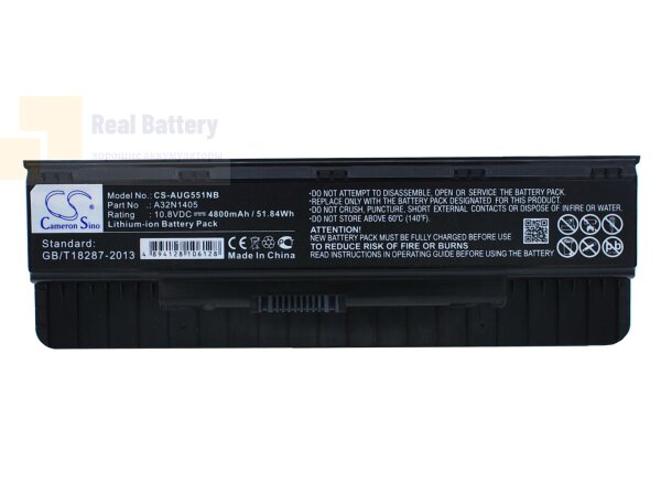 Аккумулятор CS-AUG551NB для Asus G551  10,8V 4800mAh Li-ion