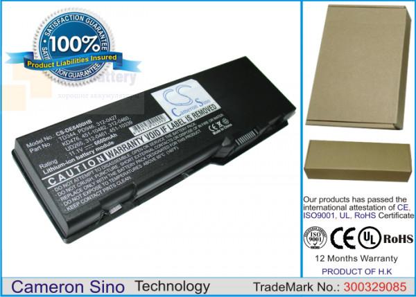 Аккумулятор CS-DE6400HB для DELL Inspiron 1501  11,1V 6600mAh Li-ion