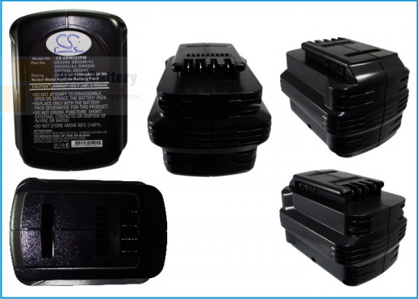 Аккумулятор для Dewalt DC222KA 24V 1,5Ah Ni-MH CS-DEW223PW