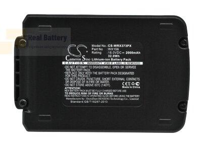 Аккумулятор для Worx Brushless Impact 20V MAX Drill 16V 2Ah Li-ion CS-WRX373PX