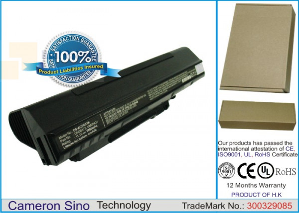 Аккумулятор CS-ACZG5XK для Acer Aspire One 531H 11,1V 7800mAh Li-ion