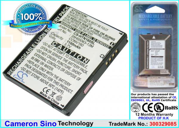 Аккумулятор CS-HTN160SL для T-Mobile Shadow 2 3,7V 1100Ah Li-ion